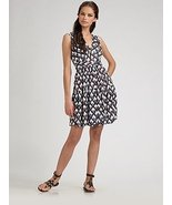 DIANE von FURSTENBERG MACIE DIAMOND SNAKE BLUE DRESS - US 8 - UK 12 - $140.34