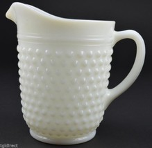 """Anchor Hocking Hobnail Milk Glass Pattern 65 Oz. Pitcher 8"""" Tall Collect... - $28.99"""