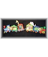 2 Vintage Home Interior/Homco Circus Train Wall Plaques  - $10.95