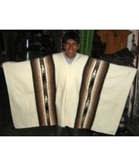 Peruvian poncho for men,outerwear made of alpaca wool  - $115.00