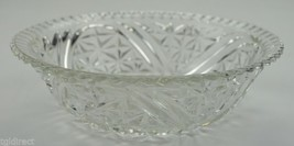 """Vintage Anchor Hocking Glass Stars & Bars Pattern Round Bowl 8"""" Collectible - $15.99"""