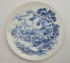 Enoch Wedgwood China Countryside Blue Pattern Dinner Plate Retired Repla... - $10.99