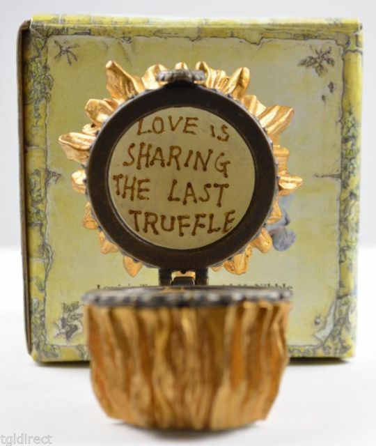 Boyds Bears Lovie's Truffle Cupid McNibble Resin Treasure Box Collectible Decor