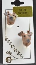 Fox Terrier Dog Earrings Novelty Jewelry Post Earrings Accessory Figural... - $4.49
