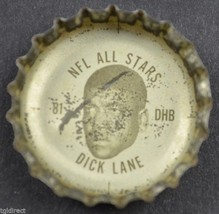 Coca Cola NFL All Stars Coke King Size Bottle Cap Detroit Lions Dick Lan... - $4.99