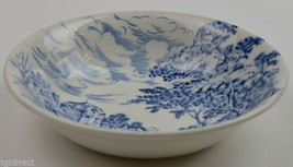 Enoch Wedgwood China Countryside Blue Pattern Dessert Bowl Vintage Dinne... - $6.99