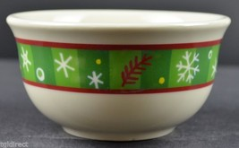 Longaberger Pottery Bluster The Snowman Pattern Holiday Bowl China Colle... - $16.99