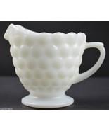 "Vintage Anchor Hocking Bubble Milk Glass Pattern Creamer Pitcher 3.25"" W... - $7.99"