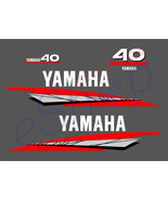 Yamaha outboard 2/Two Stroke 40 OR 50/60 Hp decals stickers set kit mode... - $49.99