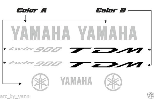 Yamaha TDM 900 High Quality Decals Set Stickers Kit Aufkleber Calcomanias