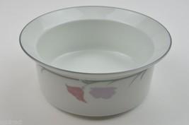 Dansk China Belles Fleurs Gray Vegetable Bowl Vintage Retired Serveware Serving - $18.99
