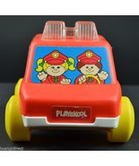 Playskool 1991 Red Police Car With Lights And Sound Plastic Vintage Toy ... - $19.99
