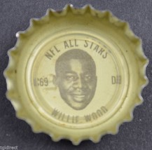 Coca Cola NFL All Stars Bottle Cap Green Bay Packers Willie Wood Coke King soda - $6.99