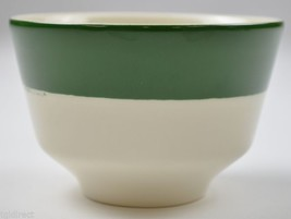 "Homer Laughlin Green Stripe Pattern Custard Cup 2.5"" T Pottery Tableware... - $11.99"