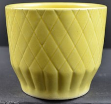 Vintage Shawnee Art Pottery Diamond Pattern Yellow Planter 455 Collectib... - $29.99