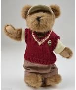 "Boyds Bears Plush Teddy Bear Putter T. Parfore 10.25"" Tall Collectible Golf - $14.99"