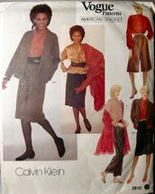 Vogue 2810 Skirt, Culotte, Pants Bouse & Jacket sz 14 ONLY Calvin Klein - $6.99