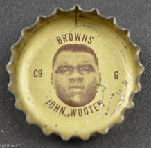 Vintage Coca Cola NFL Bottle Cap Cleveland Browns John Wooten Coke Collectible - $4.99