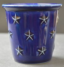 "Longaberger Pottery Candle Votive Proudly American Pattern 3"" Tall Collectible - $10.99"