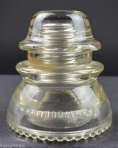 """Vintage Hemingray No. 42 Clear Glass Insulator 11-52 3.875"""" Tall Collect... - $12.99"""
