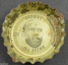 Vintage Coca Cola NFL Bottle Cap Cleveland Browns John Brown Coke Footba... - $4.99