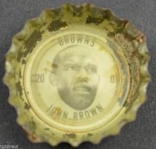 Vintage Coca Cola NFL Bottle Cap Cleveland Browns John Brown Coke Football Soda - $4.99