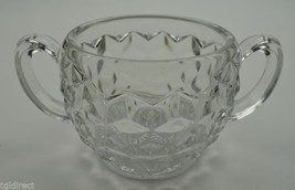 "Vintage Fostoria American Clear Pattern Open Sugar 3.5"" Tall Collectible... - $15.99"