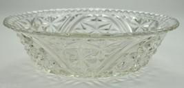 "Vintage Anchor Hocking Glass Stars & Bars Pattern Salad Bowl 10.5"" R Col... - $14.99"