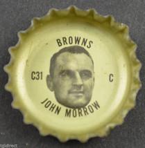 Vintage Coca Cola NFL Bottle Cap Cleveland Browns John Morrow Coke Collectible - $6.99