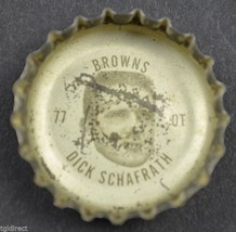Vintage Coca Cola NFL Bottle Cap Cleveland Browns Dick Schafrath Coke Ki... - $4.99