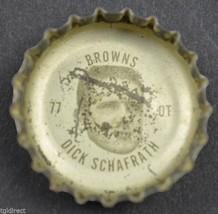 Vintage Coca Cola NFL Bottle Cap Cleveland Browns Dick Schafrath Coke King Size - $4.99