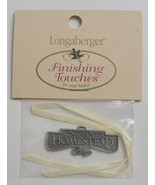 Longaberger Homestead Pewter Basket Tie-On Decorative Collectible Home D... - $9.99