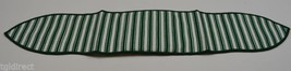 Longaberger Green Ticking Handle Tie Collectible Accessory Home Decor Fa... - $10.99