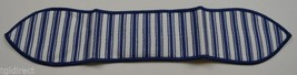 Longaberger Blue Ticking Small Handle Tie ollectible Accessory Fabric Decor - $8.99