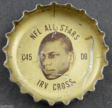 Vintage Coca Cola NFL All Stars Bottle Cap Philadelphia Eagles Irv Cross Coke - $4.99