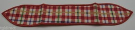 Longaberger Cherry Red Plaid Small Handle Tie Collectible Accessory Home... - $8.99