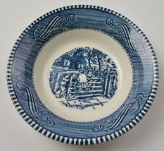Royal Currier Ives Blue Pattern Fruit / Dessert (Sauce) Bowl China Home ... - $5.49