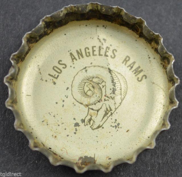 Vintage Coca Cola King Size NFL Team Bottle Cap Los Angeles Rams Coke Football - $6.99