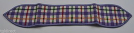 Longaberger Blueberry Plaid Small Handle Tie Collectible Accessory Fabri... - $8.99