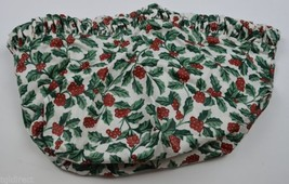 Longaberger Snowflake Basket Liner Holly Berry Pattern Collectible Accen... - $12.99