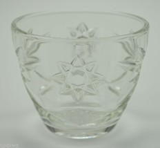 "Vintage Anchor Hocking Glass Prescut Clear Pattern Open Sugar Bowl 3"" Tableware - $9.99"