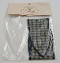 Longaberger Homestead Loon Plaid Handle Tie Collectible Accessory Fabric... - $8.99