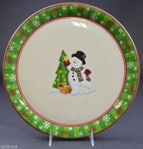 Longaberger Pottery Bluster The Snowman Pattern 2004 Round Platter Home ... - $42.99