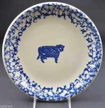 "Tienshan Pottery Animals Pattern  Cow Dinner Plate 10.25"" Wide Spongeware - $11.99"