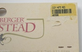 Longaberger Handle Gripper Homestad Red Pattern Collectible Accessory Fa... - $14.99