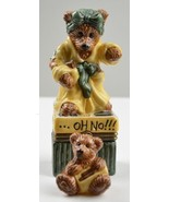 Boyds Bears Bearware Pottery Ms Griz Saturday Night Porcelain Keepsake B... - $24.99