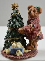 Boyds Bears Elliot & The Tree Porcelain Keepsake Box Trinket Collectible... - $19.99