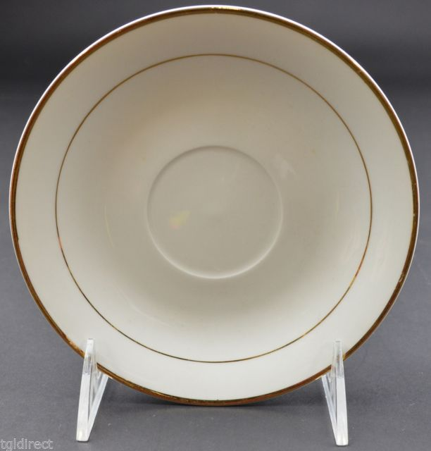 "Gibson Designs Tuxedo Gold Pattern Flat Cup Saucer 5.75"" Wide Home Decor Retired - $2.99"