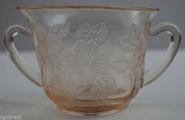 Vintage Macbeth Evans Depression Glass Dogwood Pink Pattern Open Sugar 2... - $19.99