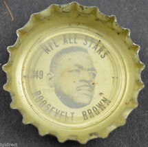 Coca Cola NFL All Stars King Size Bottle Cap Roosevelt Brown New York Giants - $6.99